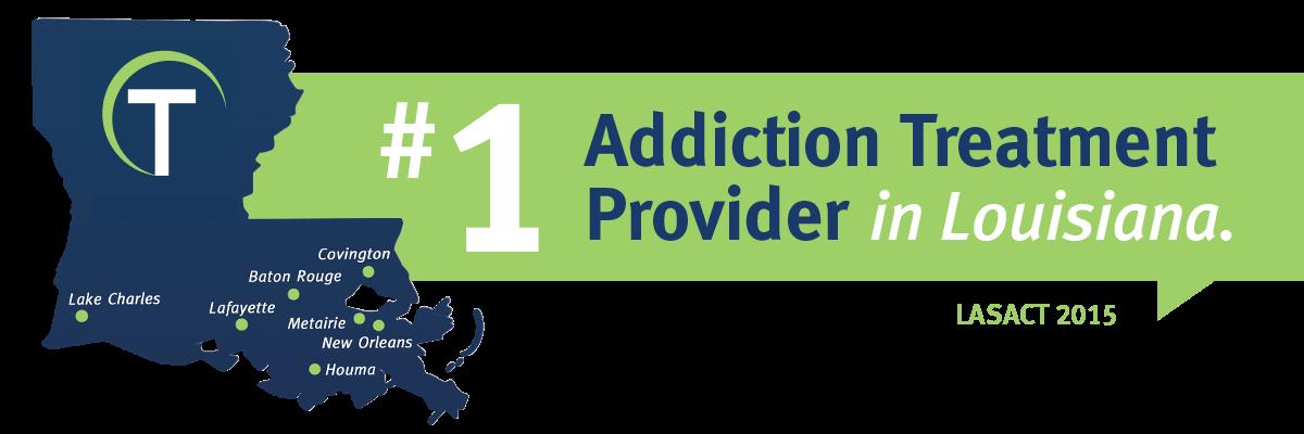 #1 Addiction Treatment Provider - LASACT 2015